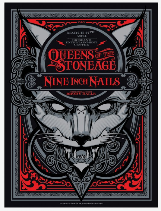 queens of the stoneage nine inch nails brisbane 2014